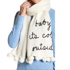 Kate Spade New York Baby it's cold outside scarf